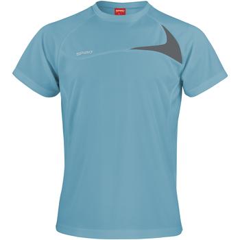 textil Herr T-shirts Spiro S182M Aqua/Grå