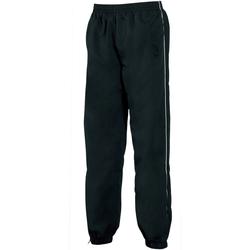 textil Herr Joggingbyxor Tombo Teamsport TL049 Svart/vit rör