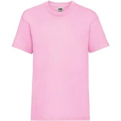textil Barn T-shirts Fruit Of The Loom 61033 Ljusrosa