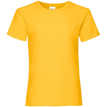 textil Flickor T-shirts Fruit Of The Loom 61005 Solros