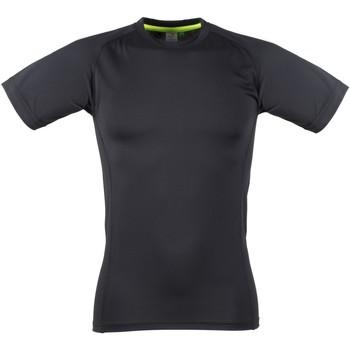 textil Herr T-shirts Tombo Teamsport TL515 Svart / Svart