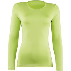 textil Dam Långärmade T-shirts Rhino RH003 Lime