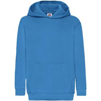 textil Barn Sweatshirts Fruit Of The Loom 62043 Azurblått