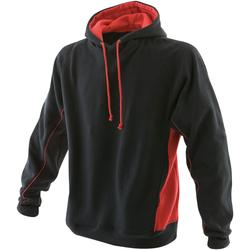 textil Herr Sweatshirts Finden & Hales LV335 Svart/röd