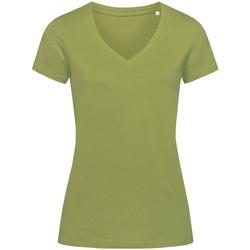 textil Dam T-shirts Stedman Stars Janet Earth Green