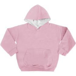 textil Barn Sweatshirts Awdis JH03J Babyrosa/Arktisk vit