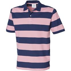 textil Herr Kortärmade pikétröjor Front Row FR210 Marinblått/rosa
