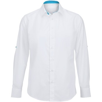 textil Herr Långärmade skjortor Alexandra Hospitality Vit/ Påfågel