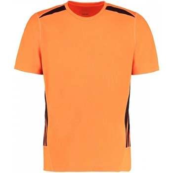 textil Herr T-shirts Gamegear KK930 Fluorescerande orange/svart