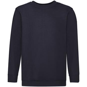 textil Barn Sweatshirts Fruit Of The Loom 62041 Djupt marinblått