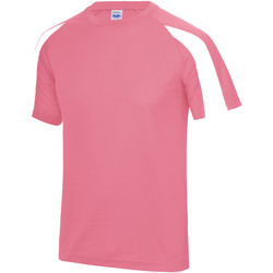 textil Herr T-shirts Just Cool JC003 Electric Pink/Arctic White
