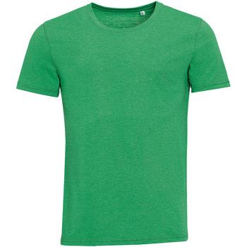 textil Herr T-shirts Sols 01182 Heather Green