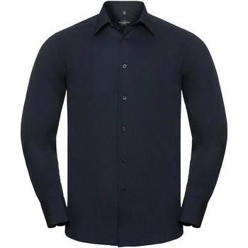 textil Herr Långärmade skjortor Russell 924M Franska flottan
