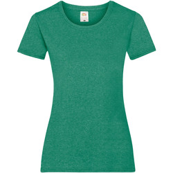 textil Dam T-shirts Fruit Of The Loom 61372 Retro Heather Green