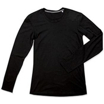textil Herr Långärmade T-shirts Stedman Stars  Svart opal