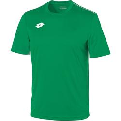 textil Barn T-shirts Lotto LT26B Gräs/vit
