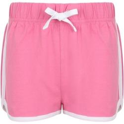 textil Barn Shorts / Bermudas Skinni Fit SM69 Ljusrosa/vit