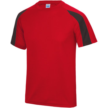textil Herr T-shirts Just Cool JC003 Eldrött/Jet Black