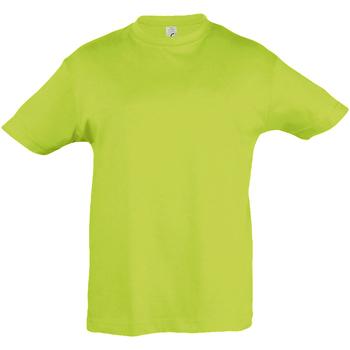 textil Barn T-shirts Sols 11970 Äppelgrönt