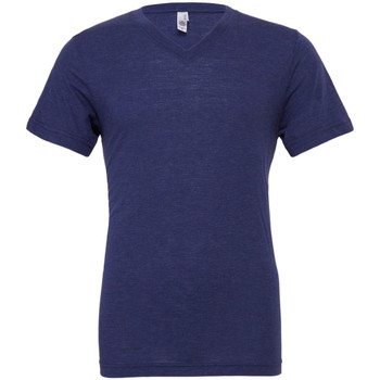 textil Herr T-shirts Bella + Canvas CA3415 Marinblått triblend