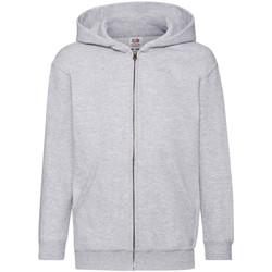 textil Barn Sweatshirts Fruit Of The Loom 62045 Grått