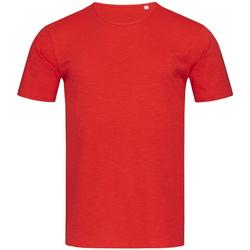 textil Herr T-shirts Stedman Stars Shawn Crimson Red