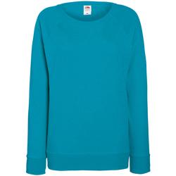 textil Dam Sweatshirts Fruit Of The Loom 62146 Azurblått