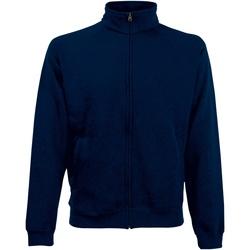 textil Herr Sweatshirts Fruit Of The Loom 62228 Djupt marinblått