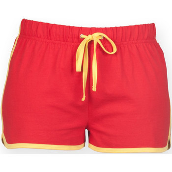 textil Dam Shorts / Bermudas Skinni Fit SK069 Röd/gul