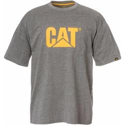 textil Herr T-shirts Caterpillar  Mörk grått