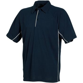 textil Herr Kortärmade pikétröjor Tombo Teamsport TL065 Marinblått/marinblått/vita kantareller