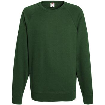 textil Herr Sweatshirts Fruit Of The Loom 62138 Flaskegrön