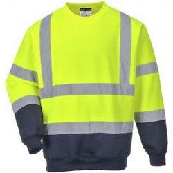 textil Herr Sweatshirts Portwest PW668 Gul/Navy