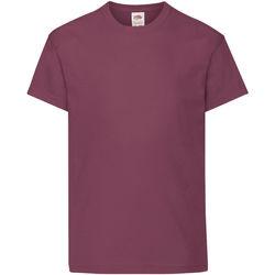 textil Barn T-shirts Fruit Of The Loom 61019 Bourgogne