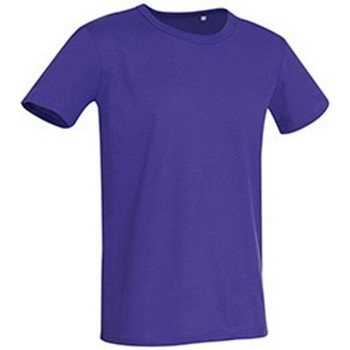 textil Herr T-shirts Stedman Stars Stars Djupt lila