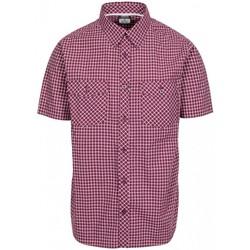 textil Herr Kortärmade skjortor Trespass Uttoxeter Prune Check