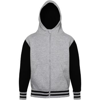 textil Barn Sweatshirts Awdis JH51J Grått grått/ svart