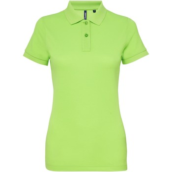 textil Dam Kortärmade pikétröjor Asquith & Fox AQ025 Neongrön