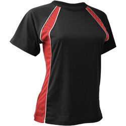 textil Dam T-shirts Finden & Hales LV251 Svart/röd/vit