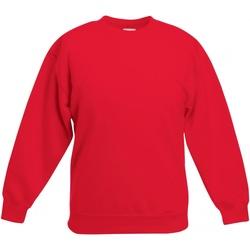 textil Barn Sweatshirts Fruit Of The Loom SS801 Röd