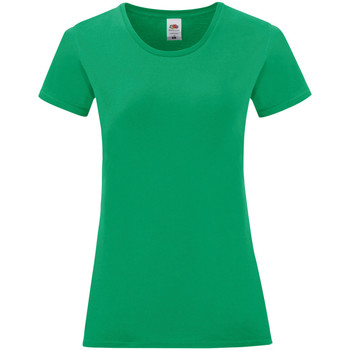 textil Dam T-shirts Fruit Of The Loom 61432 Kelly Green