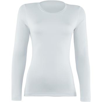textil Dam Långärmade T-shirts Rhino RH003 Vit