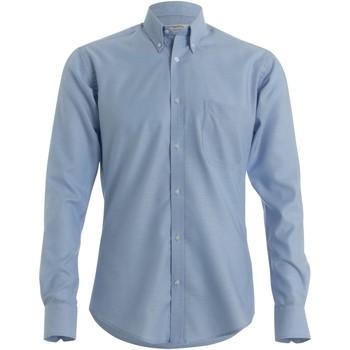 textil Herr Långärmade skjortor Kustom Kit KK184 Ljusblå