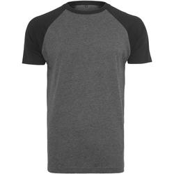 textil Herr T-shirts Build Your Brand BY007 Kol/svart