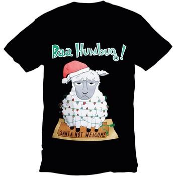 textil Herr T-shirts Christmas Shop 178642 Svart Bah Humbug