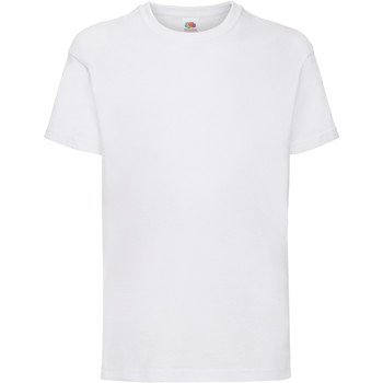 textil Barn T-shirts Fruit Of The Loom 61033 Vit