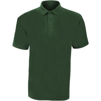 textil Herr Kortärmade pikétröjor Ultimate Clothing Collection UCC003 Flaskegrön