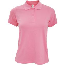 textil Dam Kortärmade pikétröjor B And C PW455 Pixel rosa
