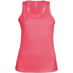 textil Dam Linnen / Ärmlösa T-shirts Kariban Proact Proact Fluorescerande rosa