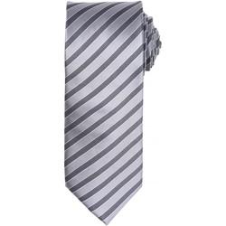 textil Herr Slipsar och accessoarer Premier PR782 Silver/mörkgrått